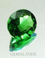 moldavita Verde natural-talla ovalada-lateral