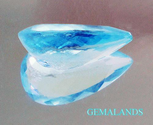 aguamarina Azul natural-talla pera