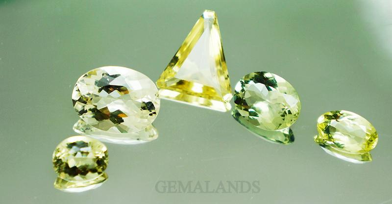 berilos dorados y verdes