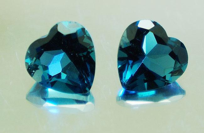 topacios talla corazón azul londres